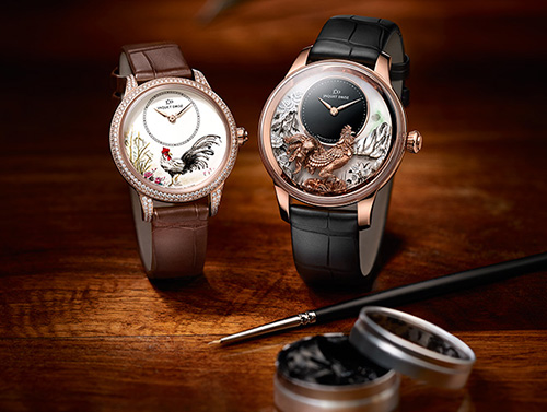 Jaquet Droz Fire Rooster watch