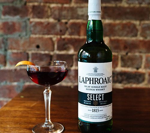 Laphroaig whisky cocktail