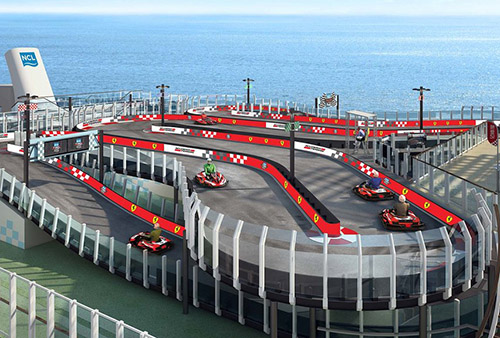 Ferrari Branded Race Track - Norwegian Cruise Line