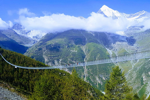Europaweg Skywalk pedestrian bridge - Switzerland
